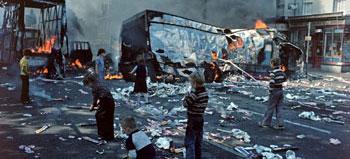 kids loot bomb site